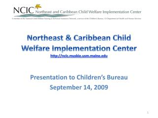 Northeast & Caribbean Child Welfare Implementation Center ncic.muskiem.maine
