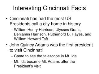 Interesting Cincinnati Facts