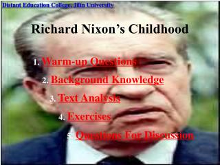 Richard Nixon's Childhood