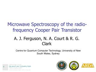 Microwave Spectroscopy of the radio-frequency Cooper Pair Transistor