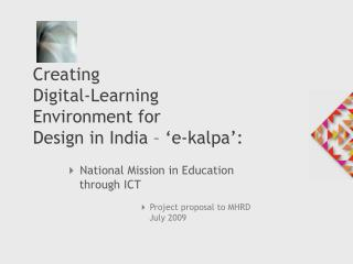 4 National Mission in Education     through ICT