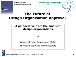 The Future of Design Organisation Approval