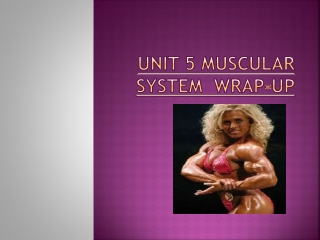 Unit 5 Muscular System Wrap-up