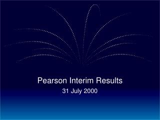 Pearson Interim Results 31 July 2000