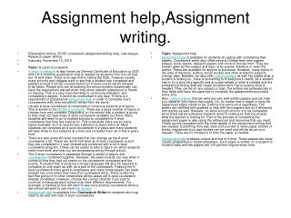Assignment help | Assignment writing