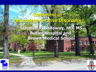 Treatment of  Neurodegenerative Disorders
