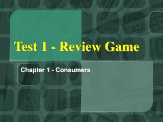 Test 1 - Review Game