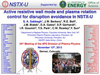 Active resistive wall mode and plasma rotation control for disruption avoidance in  NSTX-U