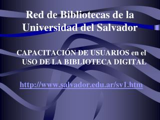 Red de Bibliotecas de la Universidad del Salvador