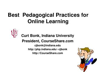 Best  Pedagogical Practices for Online Learning
