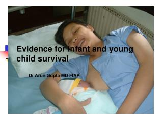 Evidence for infant and young child survival