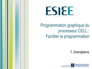 Programmation graphique du processeur CELL :  Faciliter la programmation