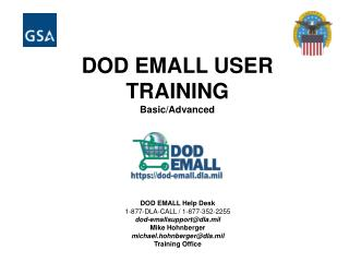 DOD EMALL USER              TRAINING Basic/Advanced