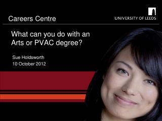 What can you do with an Arts or PVAC degree?