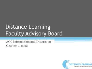 Distance Learning  Faculty Advisory Board