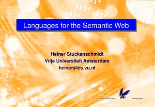 Languages for the Semantic Web