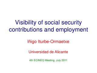 Visibility of social security contributions and employment