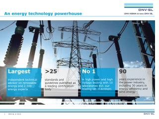 An energy technology powerhouse