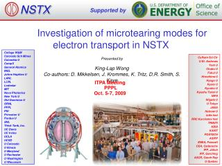 Investigation of microtearing modes for electron transport in NSTX