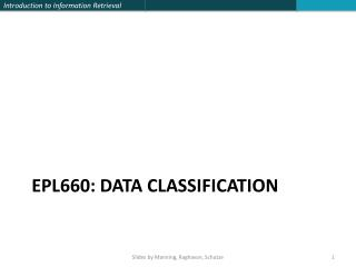 EPL660: DATA CLASSIFICATION