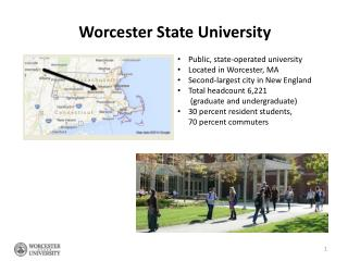 Public, state-operated university  Located in Worcester, MA Second-largest city in New England