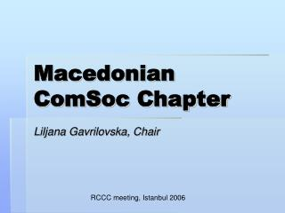 Macedonian ComSoc Chapter