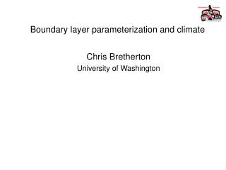 Boundary layer parameterization and climate