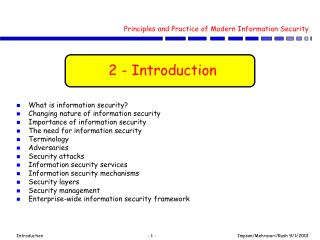 Principles and Practice of Modern Information Security