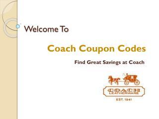 Coach Coupon Codes