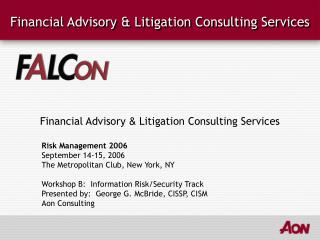 Financial Advisory & Litigation Consulting Services