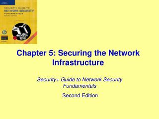 Chapter 5: Securing the Network Infrastructure