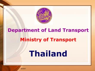 Department of Land Transport Ministry of Transport Thailand