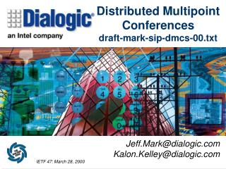 Distributed Multipoint Conferences draft-mark-sip-dmcs-00.txt