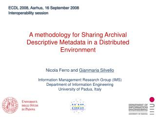 A methodology for Sharing Archival Descriptive Metadata in a Distributed Environment