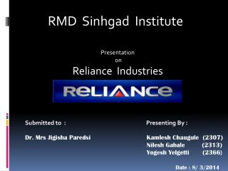 RMD  Sinhgad  Institute