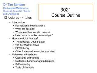 3021 Course Outline