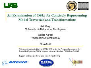 An Examination of DSLs for Concisely Representing  Model Traversals and Transformations