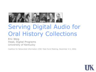 Serving Digital Audio for Oral History Collections