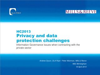 HC2013 Privacy and data protection challenges