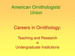 American Ornithologists' Union