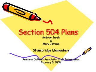 Section 504 Plans