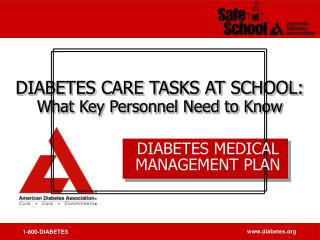 DIABETES MEDICAL MANAGEMENT PLAN