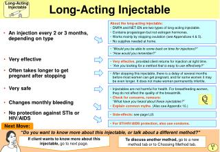 Long-Acting Injectable