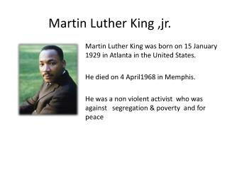 Martin Luther King ,jr.