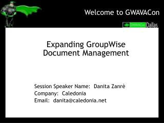 Welcome to GWAVACon