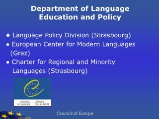 Department of Language Education and Policy
