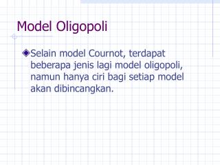 Model Oligopoli
