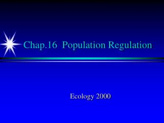 Chap.16  Population Regulation
