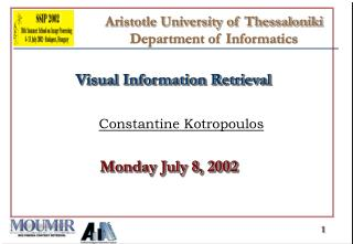 Aristotle University of Thessaloniki  Department of Informatics