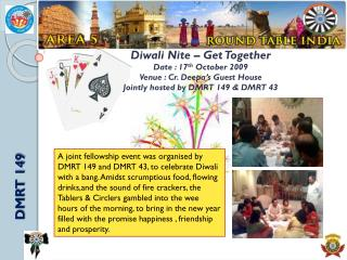 Diwali Nite – Get Together Date : 17 th October 2009 Venue : Cr. Deepa's Guest House